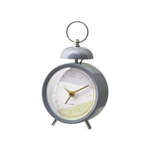 INTERFORM インターフォルム 置き時計 グレー 幅9×高さ16×奥行5.5 Dineal ディネル CL-3032GY (新生活応援 インテリア 置時計 おしゃれ 北欧 プラスチック) donguri-tree