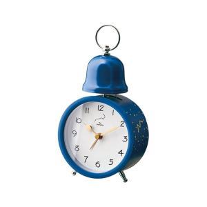 INTERFORM インターフォルム 置き時計 ネイビー 幅10×高さ19×奥行6.5 Spilka-Bell-スピルカ-ベル CL-3035NV (新生活応援 インテリア 置時計 おしゃれ 北欧) donguri-tree