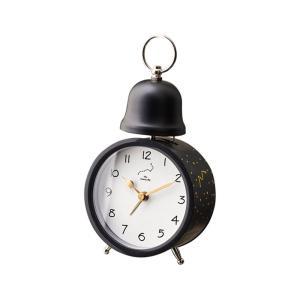 INTERFORM インターフォルム 置き時計 ブラック 幅10×高さ19×奥行6.5 Spilka-Bell-スピルカ-ベル CL-3035BK (新生活応援 インテリア 置時計 おしゃれ 北欧 黒) donguri-tree