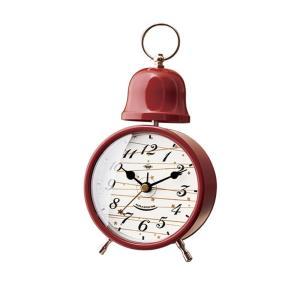 INTERFORM インターフォルム 置き時計 レッド 幅9.6×高さ18×奥行5 Meteora メテオラ CL-3036RD (新生活応援 インテリア 置時計 おしゃれ 北欧 プラスチック) donguri-tree