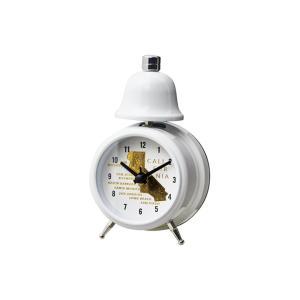 INTERFORM インターフォルム 置き時計 ホワイト 幅7.8×高さ12.5×奥行5 Grand Maps-Bell-グランドマップス-ベル CL-3037WH (新生活応援 インテリア 置時計)|donguri-tree