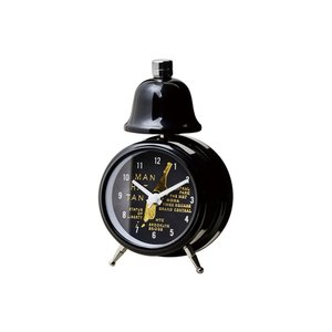 INTERFORM インターフォルム 置き時計 ブラック 幅7.8×高さ12.5×奥行5 Grand Maps-Bell-グランドマップス-ベル CL-3037BK (新生活応援 インテリア 置時計)|donguri-tree
