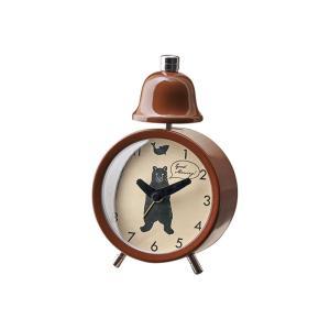INTERFORM インターフォルム 置き時計 ブラウン 幅9.5×高さ14×奥行4.5 リトルダンサーズ-ベル CL-3039BN (新生活応援 インテリア 置時計 おしゃれ 北欧)|donguri-tree