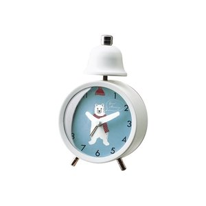 INTERFORM インターフォルム 置き時計 ホワイト 幅9.5×高さ14×奥行4.5 リトルダンサーズ-ベル CL-3039WH (新生活応援 インテリア 置時計 おしゃれ 北欧)|donguri-tree