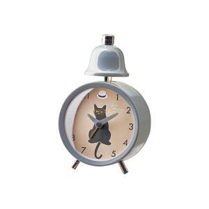 INTERFORM インターフォルム 置き時計 グレー 幅9.5×高さ14×奥行4.5 リトルダンサーズ-ベル CL-3039GY (新生活応援 インテリア 置時計 おしゃれ 北欧)|donguri-tree