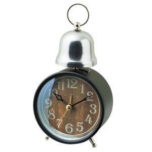 INTERFORM インターフォルム 置時計 MARC マルク BK ブラック CL-7995BK (新生活応援 インテリア 置き時計 木製 おしゃれ 北欧 黒 プラスチック)|donguri-tree