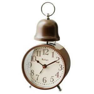 INTERFORM インターフォルム 置時計 ALCOTT オルコット BN ブラウン CL-7996BN (新生活応援 インテリア 置き時計 おしゃれ 北欧 プラスチック)|donguri-tree