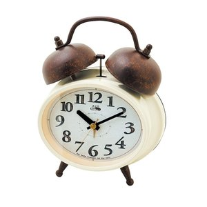 INTERFORM インターフォルム 置時計 Dinant ディナント IV アイボリー CL-8955IV (新生活応援 インテリア 置き時計 おしゃれ 北欧 プラスチック)|donguri-tree