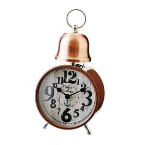 INTERFORM インターフォルム 置時計 Hutte -bell- -ヒュッテ -ベル-- BR ブロンズ CL-9373BR (新生活応援 インテリア 置き時計 木製 おしゃれ 北欧)|donguri-tree