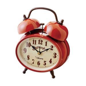 INTERFORM インターフォルム 置時計 Greiz -グライツ- RD レッド CL-9375RD (新生活応援 インテリア 置き時計 木製 おしゃれ 北欧 赤 red プラスチック)|donguri-tree