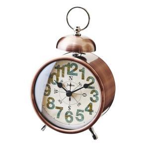 INTERFORM インターフォルム 置時計 Compass コンパス BR ブラウン CL-9592BR (新生活応援 インテリア 置き時計 おしゃれ 北欧 プラスチック)|donguri-tree
