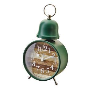 INTERFORM インターフォルム 置時計 Oster オステル GN グリーン CL-9593GN (新生活応援 インテリア 置き時計 木製 おしゃれ 北欧 プラスチック)|donguri-tree