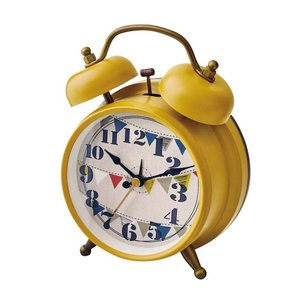 INTERFORM インターフォルム 置き時計 Eind アイント YE イエロー CL-9910YE (新生活応援 インテリア 置時計 おしゃれ 北欧 プラスチック)|donguri-tree