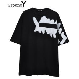 Ground Y グラウンド ワイ メンズ Tシャツ PRINTED BIG TEE TYPE.2 ...
