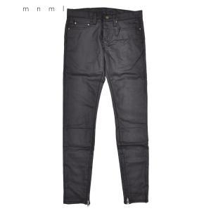 mnml ミニマル メンズ パンツ M11 STRETCH DENIM BLACK ブラック ボトム...