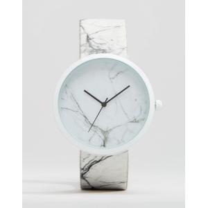 エイソス ASOS メンズ 腕時計・ウォッチ ASOS Watch With Marble Design White