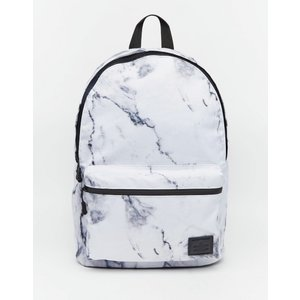 エイソス ASOS メンズ バッグ・カバン バックパック ASOS Backpack in Marble Print White