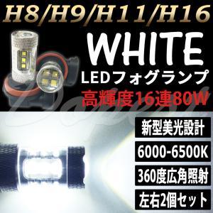 LEDフォグランプ H11 アイシス ANM10/ZNM10 H19.5〜 80W