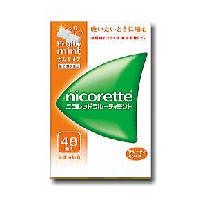 ニコレットフルーティミント48個【指定第2類医薬品】|doradora-drug