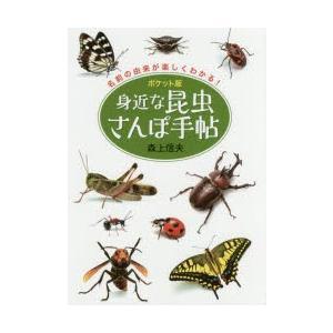 新品本/身近な昆虫さんぽ手帖 ポケット版 名前の由来が楽しくわかる! 森上信夫/写真・文
