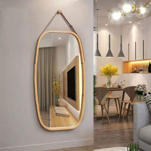 SoBuy BZR12-N ミラー 壁掛け 鏡 玄関 ウォールミラー 円型 鏡 大型 飾り 吊鏡 全...