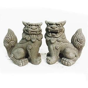 沖縄土産 シーサー 置物 ミニ 玄関 黒石獅子シーサー|doreminchi