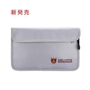 耐火バッグ 書類保管ケース 金庫耐火防水バッグ 二重層 防炎 安心保管袋 手提げ (27*17.5cm)|doreminchi