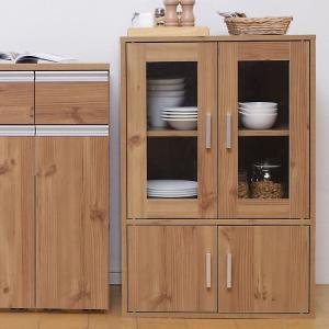アイリスオーヤマ 食器棚 ガラス キャビネット 幅60×奥行38.8×高さ90cm ナチュラル GKN-9060 GKN-9060|doreminchi