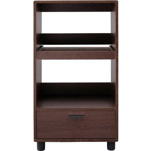 アイリスオーヤマ キッチンボード レンジ台 スライド棚 幅50×奥行37×高さ93.8cm ブラウンオーク KBD-500|doreminchi