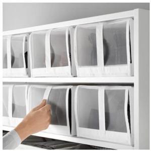 IKEA(イケア) SKUBB ホワイト 80186396 シューズボックス、ホワイト|doreminchi