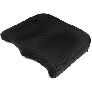 IKSTAR 座布団 低反発 クッション オフィス 椅子 車用 自宅用 プレゼント RoHS安全基準クリア 座り心地抜群 カバー洗える 通気|doreminchi