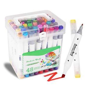 マーカーペン コピックペン イラストマーカー 水性ペン カラーペン アートマーカー 48色セット 2...