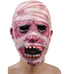 ハロウィーンHalloween ハロウィン リアルゾンビマスク お面おもしろ コスプレラバーマスク ...