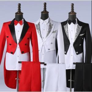 【商品説明】  セット内容:ジャケット+パンツ+ベルト+蝶ネクタイ  ※サイズ表記は目安です。誤差は...