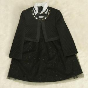 アウトレット 女児キッズフォーマルアンサンブル3点セット 水色 ボレロ ジャンスカワンピタイプ 115cm|doresukimono-kyoubi