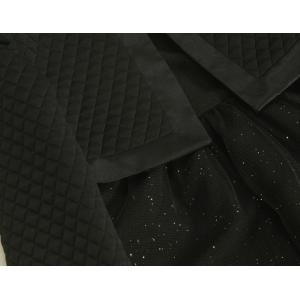 アウトレット 女児キッズフォーマルアンサンブル3点セット 110cm〜115cm 黒色 ボレロ ワンピタイプ|doresukimono-kyoubi|03