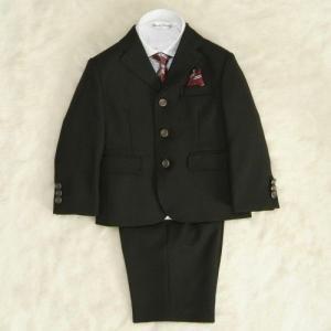 アウトレット 男の子スーツ5点セット チャコールグレー シャツカラー白 三つ釦タイプ ハーフパンツセット 110cm|doresukimono-kyoubi