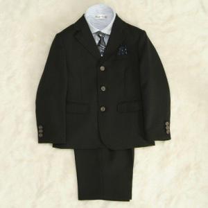 アウトレット 男の子スーツ5点セット チャコールグレー シルバーボタン ストライプシャツ 三つ釦タイプ ハーフパンツセット 120cm