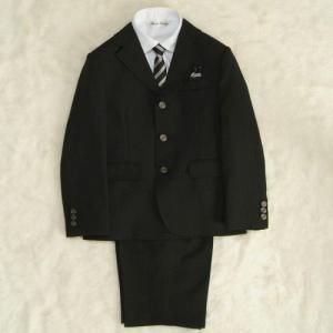 アウトレット 男の子スーツ5点セット チャコールグレー シルバーボタン 三つ釦タイプ ハーフパンツセット 130cm