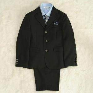 アウトレット 男の子スーツ5点セット チャコールグレー シャツカラーブルー 三つ釦タイプ ハーフパンツセット 130cm
