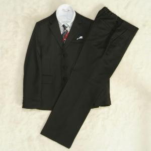 アウトレット 男の子ジュニアフォーマルスーツ5点セット 140cm〜165cm チャコール シャツカラー白 三つ釦 ロングパンツ|doresukimono-kyoubi