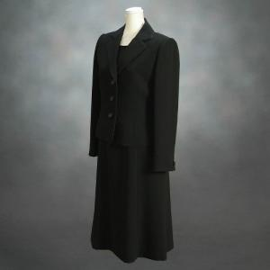 ブラックフォーマルスーツ 喪服 礼服 アウトレット品 アンサンブル2点セット サイズ7号 NO453|doresukimono-kyoubi