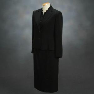 ブラックフォーマルスーツ 喪服 礼服 アウトレット品 スリーピースセット サイズ13号 日本製|doresukimono-kyoubi