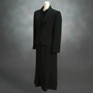 ブラックフォーマルスーツ 喪服 礼服 アウトレット品 スリーピースセット サイズ7号|doresukimono-kyoubi