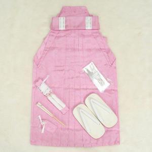 七五三 着物 男児袴セット ピンク 斜ストライプ 五歳用 60cm 七点セット|doresukimono-kyoubi