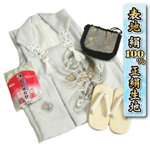 七五三 3歳 男の子 着物 正絹被布雪駄セット グレー 龍 手描き 変わり無地精華生地 信玄袋 足袋付き 日本製|doresukimono-kyoubi