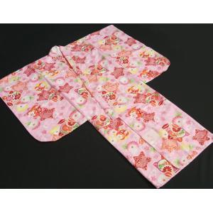 七五三 着物 7歳 女の子四つ身着物 ピンク色地 橘華 桜地紋 doresukimono-kyoubi 02