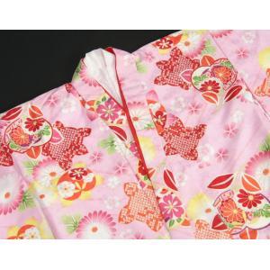 七五三 着物 7歳 女の子四つ身着物 ピンク色地 橘華 桜地紋 doresukimono-kyoubi 04