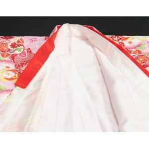 七五三 着物 7歳 女の子四つ身着物 ピンク色地 橘華 桜地紋 doresukimono-kyoubi 06