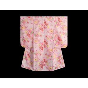 七五三 着物 7歳 着物フルセット ピンク色地着物 牡丹菊 ピンク帯セット 足袋に腰紐など20点フルセット doresukimono-kyoubi 04